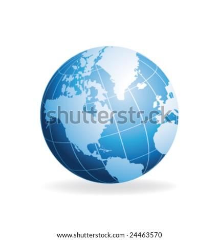 Vector globe - stock vector