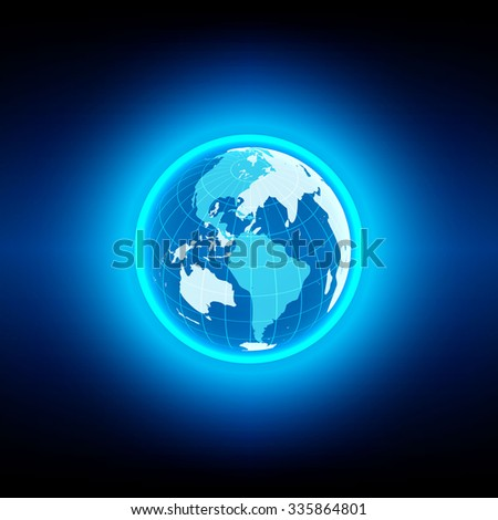 vector globe blue technology background concept design. vector illustration