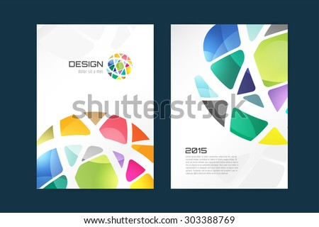 Vector globe brochure template. Brochure design. Abstract flyer template design and creative magazine idea, blank, book cover or banner template, paper, journal. Stock illustration - stock vector