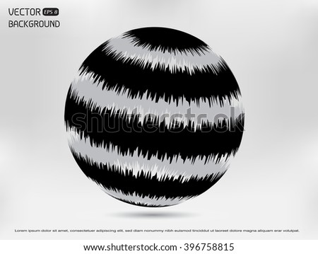 Vector globe design.Business globe.Technology sphere.Abstract round logo. - stock vector