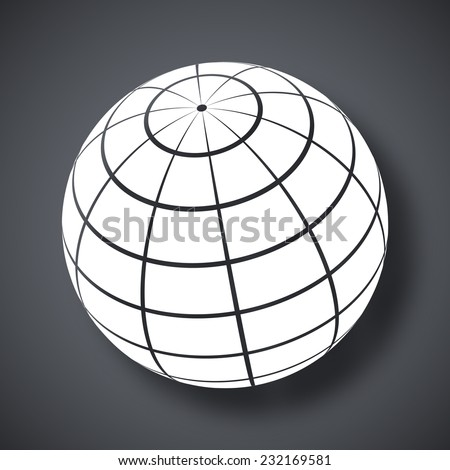 Vector globe icon - stock vector