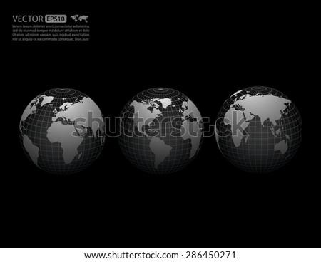 Vector globe icon . - stock vector