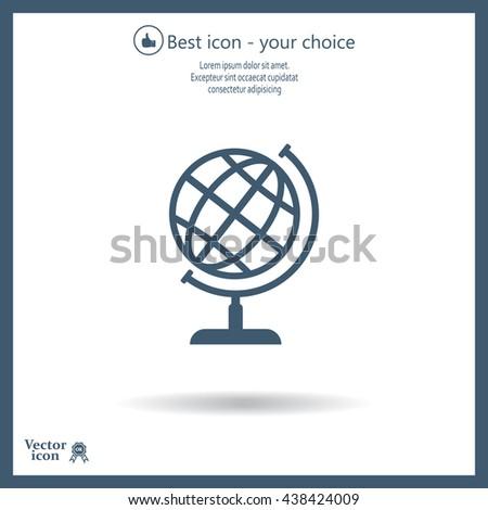 Vector globe icon - stock vector