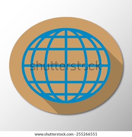 Vector globe icon background - stock vector