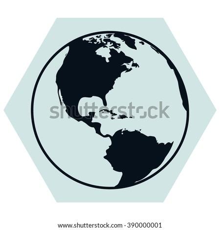 Vector globe icons - stock vector