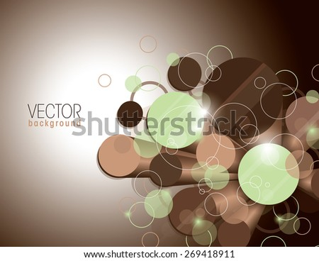 Vector Glossy Background with Brown Cylinders. - stock vector