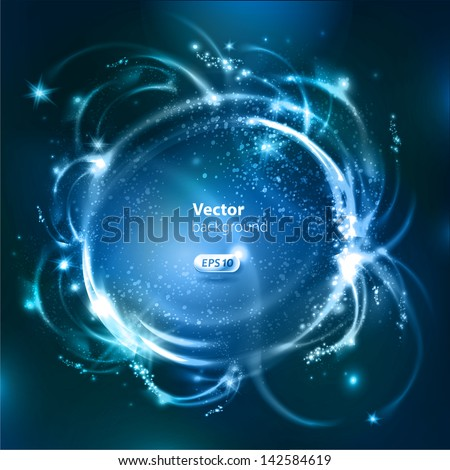 Vector glossy bubbles. Abstract background - stock vector
