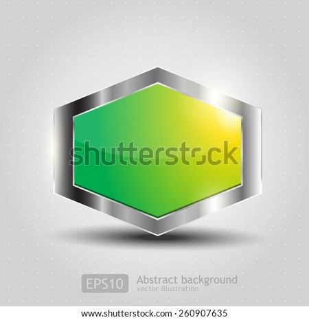 Vector Glossy Button for web applications  - stock vector