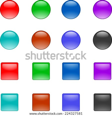 vector glossy buttons for your design - stock vector