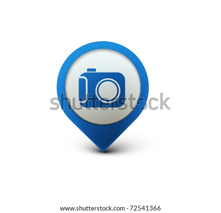 vector glossy camera web icon design element. - stock vector