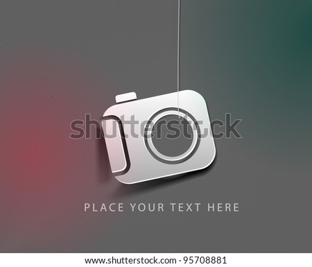 vector glossy camera web icon design element. - stock vector