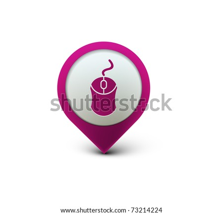 vector glossy computer mouse web icon design element. - stock vector
