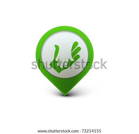 vector glossy deal web icon design element. - stock vector