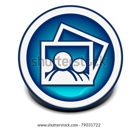 vector glossy photo web icon design element.