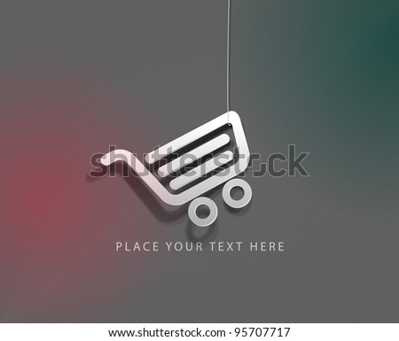 vector glossy shopping web icon design element. - stock vector