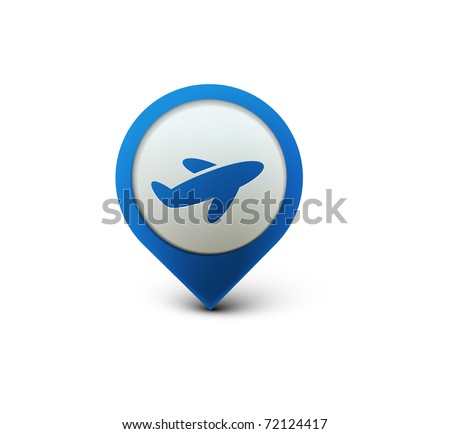 vector glossy travel web icon design element. - stock vector