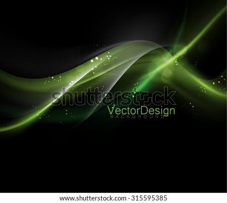 Vector Glossy Wave Design - stock vector