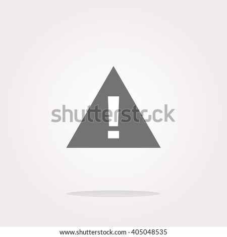 vector glossy web button with attention warning sign. Vector attention warning sign web Icon logo, attention warning sign web vector Icon Sign, attention warning sign web Icon Flat - stock vector