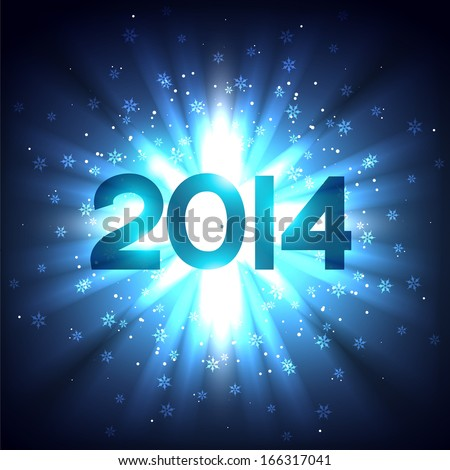 vector glowing happy new year design background