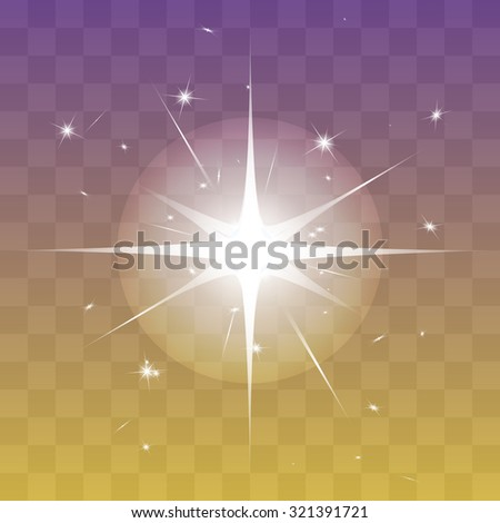 Vector glowing light effect stars bursts with sparkles. Shine star glitters - stock vector