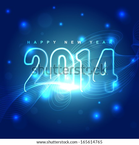 vector glowing shiny happy new year design illustration
