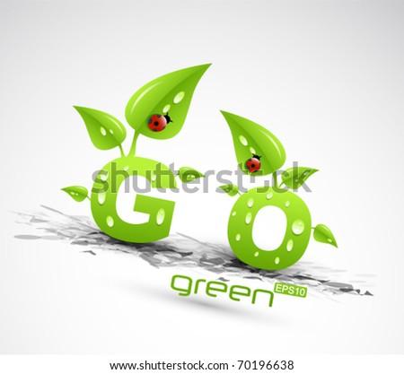 vector go green concept - stock vector