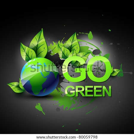 vector go green symbol design - stock vector