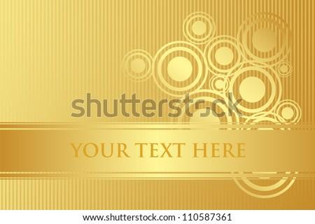 Vector gold background - stock vector