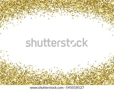 Vector Gold Glitter Confetti Pattern On White Background Shine Premium Wallpaper For Vip Greeting Card