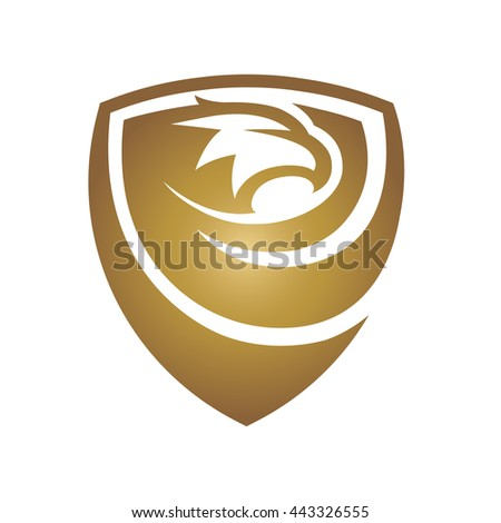 Vector Gold Hawk Shield