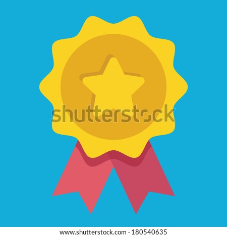 Vector Gold Medal Icon - stock vector