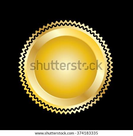Vector Gold Seal  - stock vector