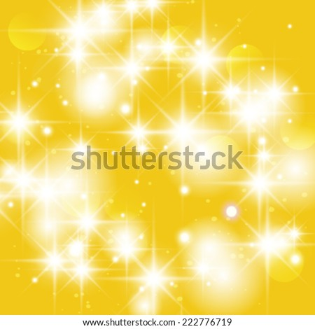 Vector gold sparkle glitter background. Glitter stars background. - stock vector