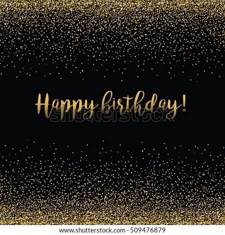 Gold Happy Birthday Calligraphy Stock Images, Royalty-Free ...