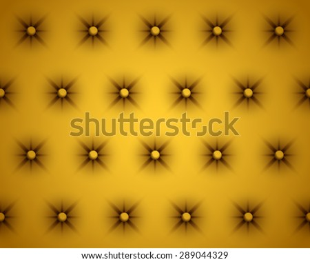 Vector Gold Texture of the Skin of the Door Upholstery - stock vector