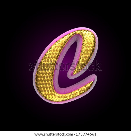 vector golden and pink letter