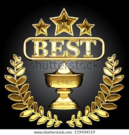 vector golden award - stock vector