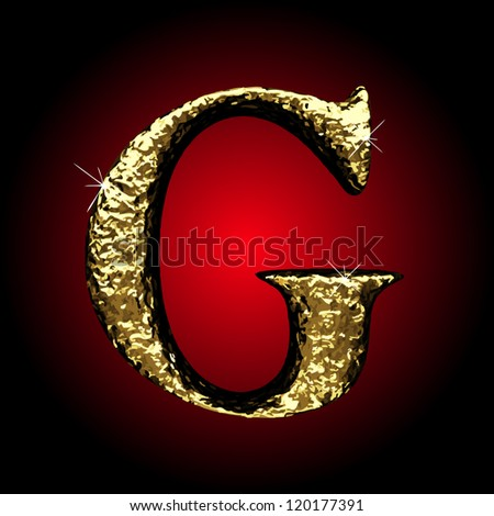 Vector golden figure - stock vector