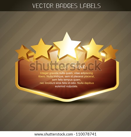 vector golden label with space for your text