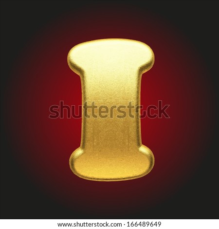 vector golden letter