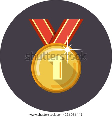 Vector  Golden Medal