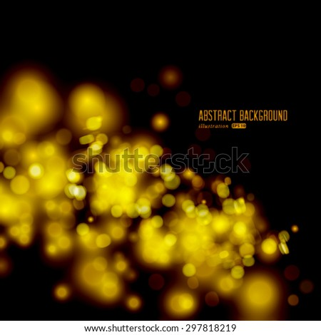 Vector golden sparkling background with intense glowing sparkles and glitter. Merry Christmas and Happy New Year card design. - stock vector
