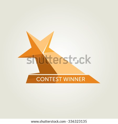 Vector Golden Star Award Icon - stock vector
