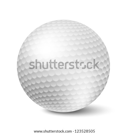 Vector Golf ball isolated on white background - stock vector