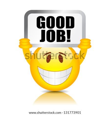 Vector good job smiley - stock vector