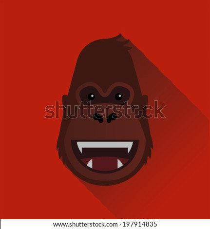 Vector gorilla face - stock vector