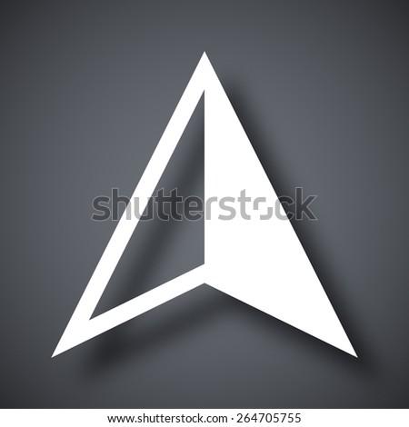 Vector gps arrow icon - stock vector