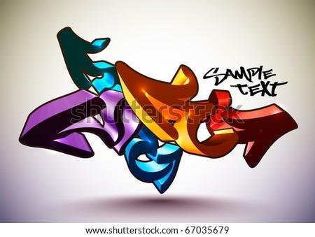 Vector Graffiti - stock vector