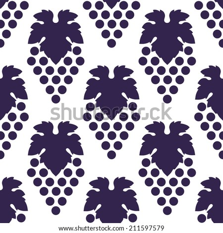 vector grape seamless pattern - stock vector