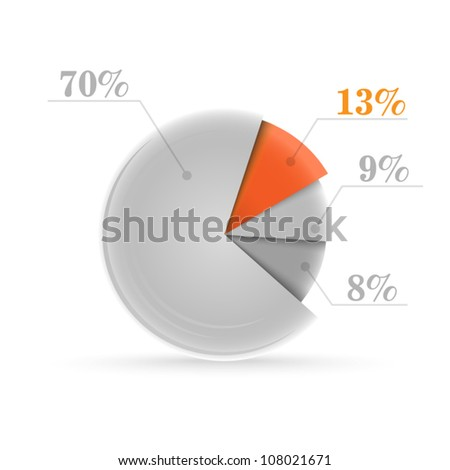 Vector graph - stock vector